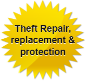 Theft Repair, replacement & protection